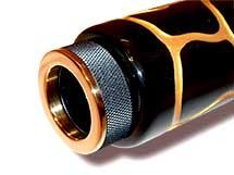 Das Mundstück für dieses Luxus Slide-Didgeridu ist 24 Karat Hartvergoldet. The Mouthpiece for this Luxus-Slide-Didgeriduu is 24 K gold plated.