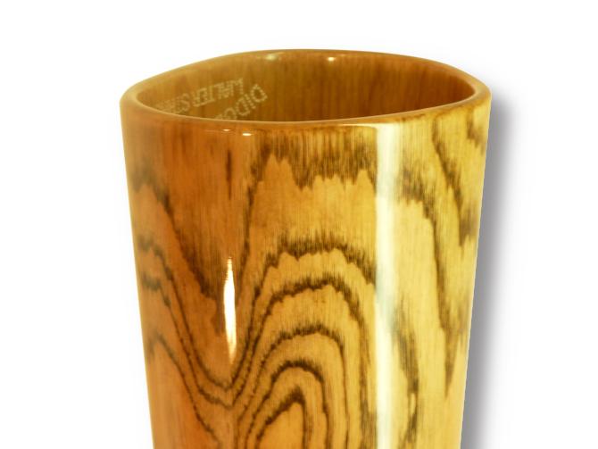 Woodslide Didgeridoo, Holz Roteiche, Design: natur, Ansicht Bellend. Woodslide Didge, Wood Red Oak, Design: nature, View Bellend.