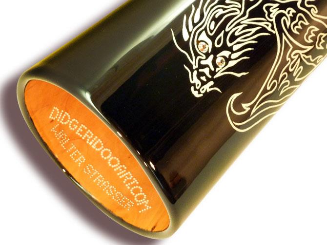 "Woodslide Didgeridoo ""Weißer Drache"" (Detail 02)"