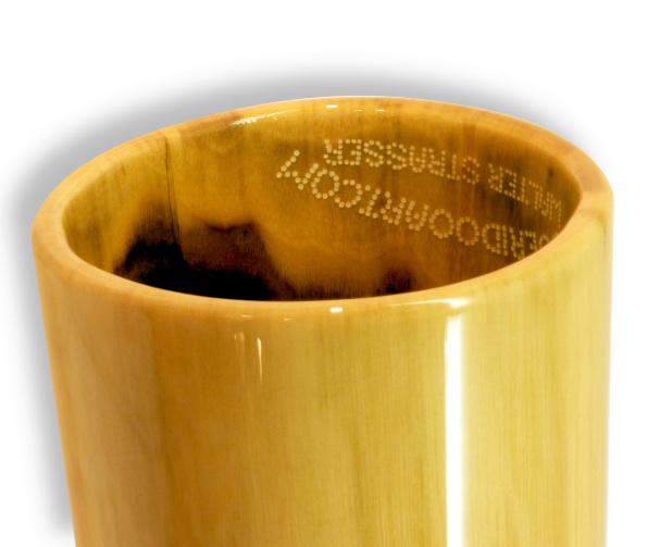 Original Woodslide Didgeridoo, Holz: Schwarznuss Design natur, Ansicht Bellend. Original Woodslide Didge, Wood: Black Nut, Design: natur, View: Bellend
