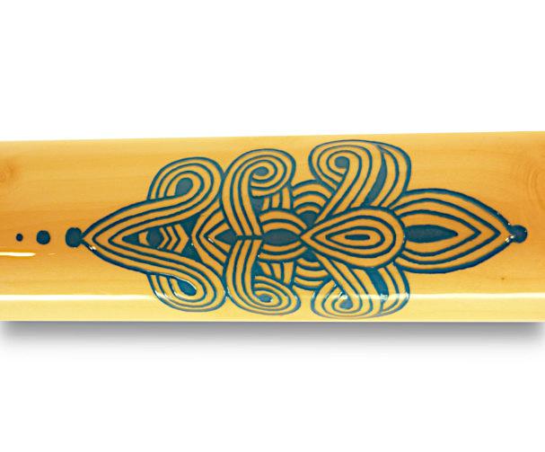 Original Woodslide Didgeridoo, Holz: Ahorn, Ansicht Detail - Original Woodslide Didge, Wood: Maple Tree, View Detail