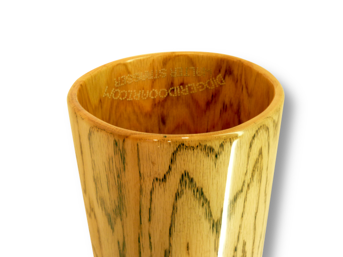 Woodslide Didgeridoo, Holz: Roteiche, Design: natur, Ansicht: Bellend  Woodslide Didge, Wood: Red Oak, Design: nature, View: Bellend