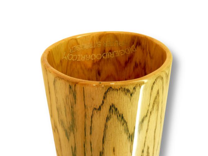 Woodslide Didgeridoo, Holz: Roteiche, Design: natur, Ansicht: Bellend  Woodslide Didge, Wood: Red Oak, Design: nature, View: Bellend