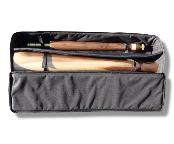 Original Woodslide Didgeridoo Tasche. Holz: Schwarznuss, Tonlagen F – C, Bestell Nr. 099    Bag for original Woodslide Didge, Wood: Black Nut, Pitches F - C Order No. 099